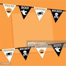 retro halloween bunting icon ideas vector art getty images