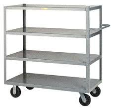Shelves With Wheels by Heavy Duty Welded 4 Shelf Truck Perfect For Stocking And Storage