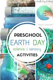 preschool earth day activities science and sensory play