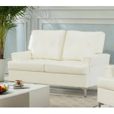 Beige Leather Loveseat Faux Leather Loveseats You U0027ll Love Wayfair