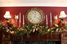 decorations classic fireplace with elegant christmas decoration