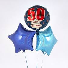50th birthday balloon bouquets milestone balloon bouquets with free delivery card factory