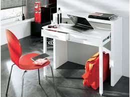 vente unique bureau console bureau sisko 2 tiroirs bouleau 2 coloris
