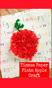tissue paper plate apple craft jinxy kids