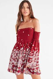 ecote elora the shoulder smocked dress outfitters