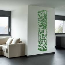 tiki totem 4 vinyl wall decal sticker tiki totem 4 wall art decal