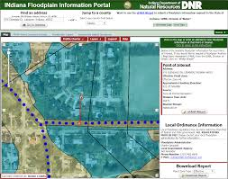 Indiana Time Zone Map Infip A One Stop Shop For Floodplain Information On Indiana