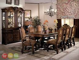 China Cabinet And Dining Room Set Neo Renaissance Formal Dining Room Set Table 6 Side 2 Arm Chairs