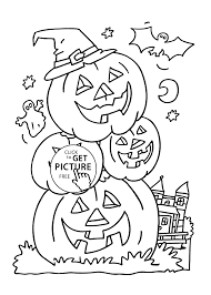 Halloween Pictures Printable Pumpkins Coloring Page For Kids Printable Free Halloween