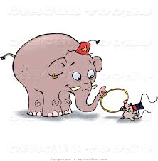mouse clipart elephant pencil and in color mouse clipart elephant