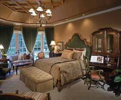 natural warm nuance of the bedroom design traditional old