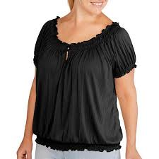 peasant blouse plus size buy faded womens plus size crinkle peasant top in cheap