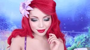 mermaid makeup tutorial disney princess ariel hair