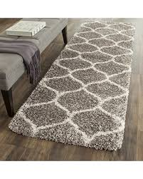 Plush Runner Rugs Get The Deal Safavieh Hudson Shag Collection Sgh280b Grey And
