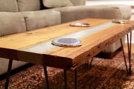 concrete and wood coffee table riverview design solutionsreclaimed hemlock and concrete coffee