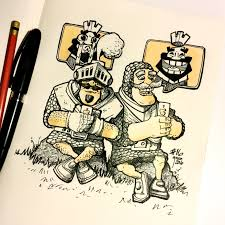 inktober drawing 16 another drawing of clash royale prince vs