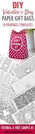 gift bag templates free printable diy valentine u0027s day paper gift bags free template u0026 tutorial