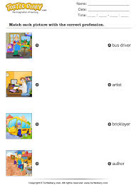 match occupations with pictures worksheet turtle diary