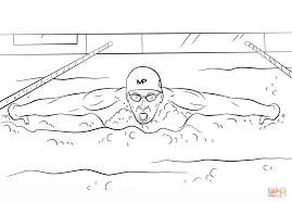michael phelps coloring page free printable coloring pages