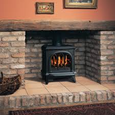 huntingdon 30 matt black conventional flue a bell gas stove