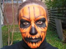 easy face makeup for halloween quick and easy halloween pumpkin makeup tutorial youtube