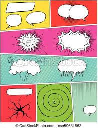 comic book template comic speech bubbles clip art vector search