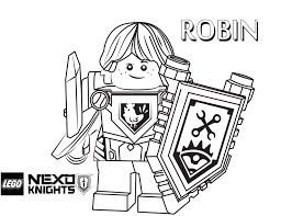 robin coloring printable sheet lego nexo knights