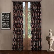 Custom Blackout Drapes Iyuegou Luxury European Style Jacquard Black Silky Fabric Pleated