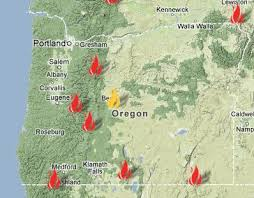 a map of oregon fires and rescue contact