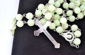 glow in the rosary luminous glow in the rosary necklace jerusalem holyland