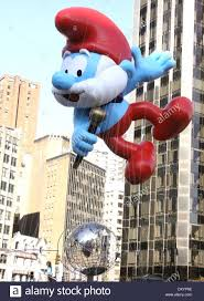 86th annual macy s thanksgiving day parade featuring papa smurf