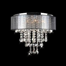 lighting design ideas small semi flush mount crystal lighting