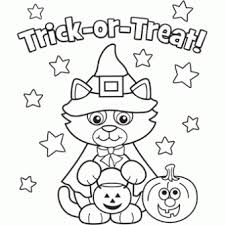 colouring pages free fun halloween oriental trading