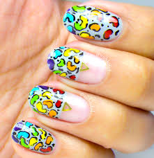 cubbiful paint all the nails presents animal print rainbow