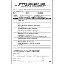 vehicle inspection report template simplified driver s vehicle inspection report bilingual