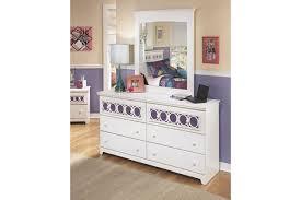 White Dresser And Nightstand Zayley Dresser And Mirror Ashley Furniture Homestore