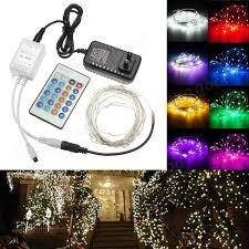12v 10m 100led silver wire xmas string fairy light remote