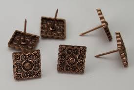 Tacks Upholstery 20567 Copper 3 4 U0027 U0027 Square Floral Upholstery Tack 10 Pack
