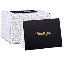 thank you cards bulk 100 thank you cards black bulk note cards with gold