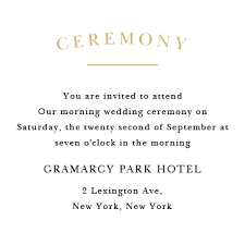 ceremony cards for weddings wedding enclosure cards by basic invite