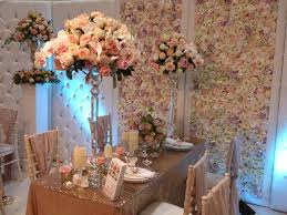 wedding backdrop london orchid pink ivory pillar rosegold