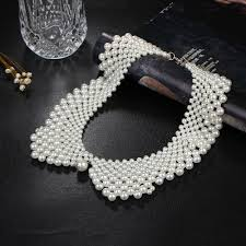 choker necklace handmade images 17km handmade simulated pearl collar necklace choker necklace jpg