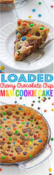 loaded chewy chocolate chip m u0026m cookie cake recipe little spice jar