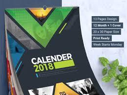 Desk Calendar Design Ideas 2018 Wall And Desk Calendar Design Template By Contestdesign