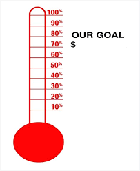 Fundraising Goal Thermometers Goal Thermometer Template Goal Thermometer For Fundraising Template