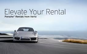 porsche 911 for rent hertz adds three porsche models to their us fleet flatsixes