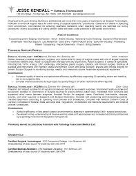 Medical Laboratory Technologist Resume Sample by Surgical Technician Cover Letter
