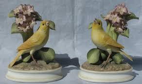 igavel auctions bisque porcelain canary bird figures by andrea