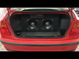 1999 2004 bmw 3 series e46 sub and amp install youtube