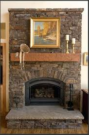 natural stone fireplace mantel shelves design living room accent